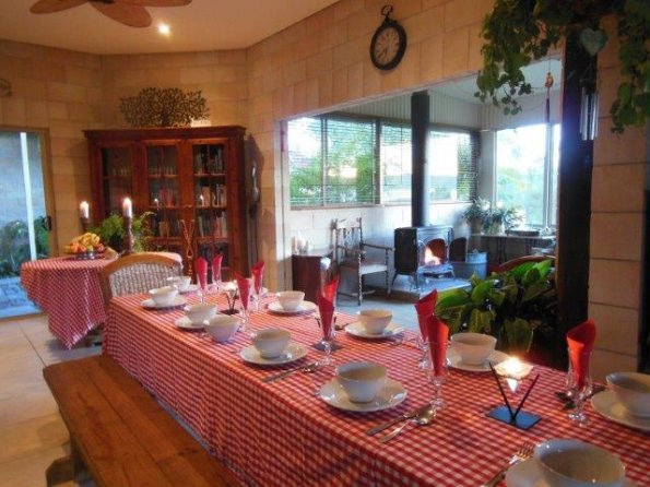 Festive farmstay table